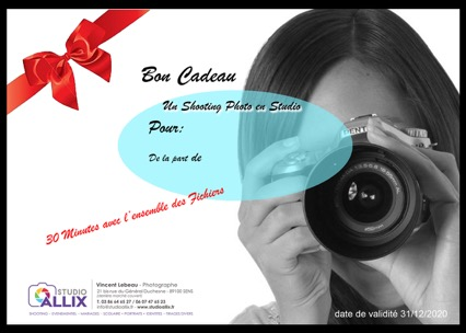 Bon cadeau Shooting photo