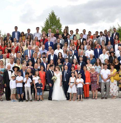 Photo de famille de mariage