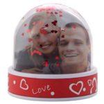 Boule paillettes coeur avec photo