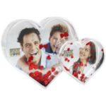 Plexi double coeur avec photos